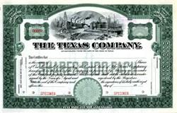 The Texas Company ( Changed name to Texaco ) - Texas 1939