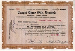 Teapot Dome Oils, Limited ( Teapot Dome Scandal ) - 1930