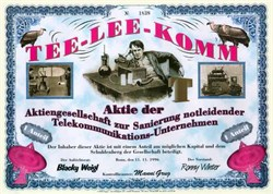 Tee - Lee - Comm (Telecom) - Spoof Certificate from Germany - Thomas Edison Picture