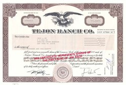 Tejon Ranch Company - California