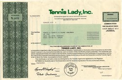 Tennis Lady, Inc - Delaware