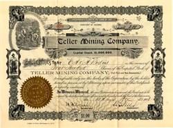 Teller Mining Company - Pinal. Sawtooth. Territory of Arizona - 1902