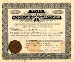 Texas Motor Car Association - 1918
