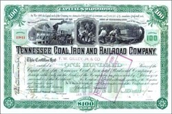 Tennessee Coal, Iron and Railroad Company 1901 - One of the 12 Companies in the Original Dow Industrial Average