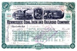 Tennessee Coal, Iron and Railroad Company 1899 signed by J. Malcolm Forbes