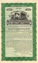 Ten Lakes Land Company - Territory of New Mexico 1912