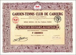 Garden Tennis Club 1919 - Early Tennis Racket Vignettte