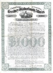 Territory of Idaho, County of Alturas Bond - 1888