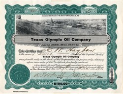 Texas Olympic Oil Company - Breckenridge, Texas - California, 1921