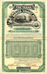 Texas, Sabine Valley Railway and Northwestern Railway Company - 1888
