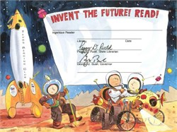 George Bush signature as Texas Governor - Invent the Future Certificate from the Texas Reading Club