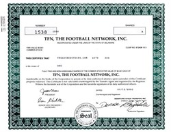 TFN, The Football Network, Inc. - Delaware 2002