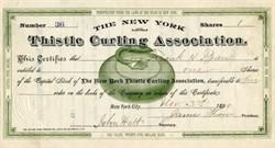 Thistle Curling Association (Vignette of Curling Rock)  - New York City -  1890