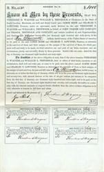 Theodore D. Wagner and William L. Trenholm $1000 Bond - Charleston, South Carolina 1868