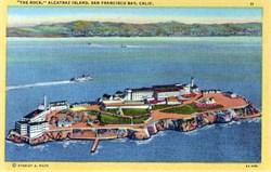 """The Rock"" Alcatraz Island, San Francisco Bay, California"