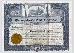 Thermopolis Cat Creek Corporation 1921