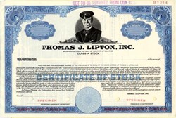 Thomas J. Lipton, Inc. (Now Unilever) vignette of Thomas J. Lipton - 1961
