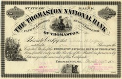 Thomaston National Bank - Maine 1886