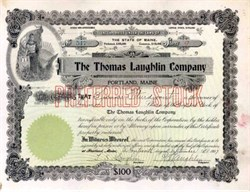 Thomas Laughlin Company 1907 - Ship Fitting Manufacturer - Maine
