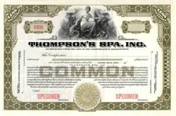 Thompson's Spa, Inc. - Massachusettes