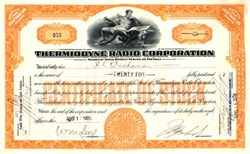 Thermiodyne Radio Corporation - 1926