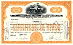 Thermiodyne Radio Corporation - 1926