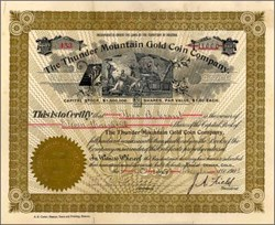Thunder Mountain Gold Coin Company 1903 - Arizona Territory