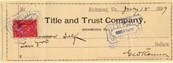 Title and Trust Company - Richmond, VA 1899