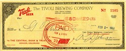 Tivoli Brewing Company - Colorado 1959