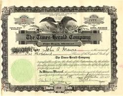 Times-Herald Company - Michigan 1911