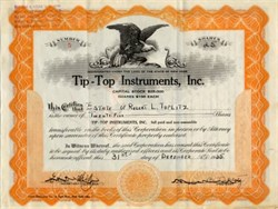 Tip -Top Instruments, Inc.- New York City 1935