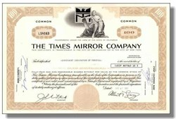Times Mirror Company 1971 ( Now owned by Tribune Group and Cox Communications )
