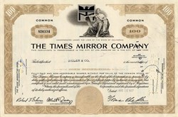 Times Mirror Company with Norman Chandler as Chairman - Los Angeles, California 1967