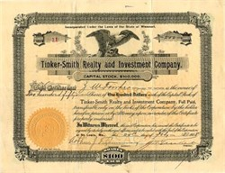 Tinker-Smith Realty and Investment Company - Missouri 1908