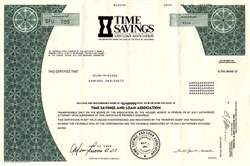 Time Savings and Loan Associates - California 1984