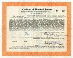 Title Guarantee and Trust Company 1930 - Nevada