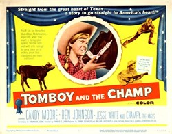 Tomboy and the Champ Lobby Card Starring Candy Moore and Ben Johnson - 1961