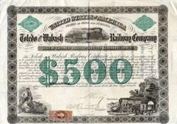 Toledo and Wabash Railway Company - Ohio and  Indiana 1862