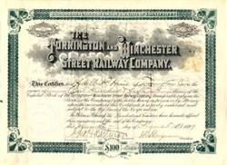 Torrington and Winchester Street Railway Company - Connecticut 1899