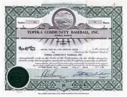 Topeka Community Baseball, Inc.  ( Topeka Hawks ) Topeka, Kansas, 1956