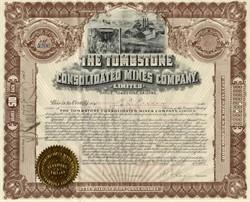 Tombstone Consolidated Mines Company - Arizona 1907