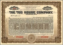 Tod House Company 1920 - Youngstown, Ohio