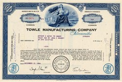 Towle Manufacturing Company (Towle Silversmiths) - Massachusettes  1960's