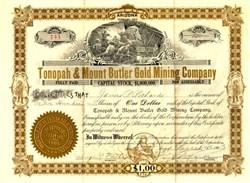 Tonopah & Mount Butler Gold Mining Company - Arizona 1903