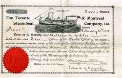 Toronto & Montreal Steamboat Company, Ltd. - Toronto, Canada - 1898