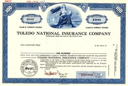 Toledo National Insurance Company - Ohio 1967