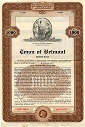 Town of Belmont Sewer Bond - North Carolina 1935