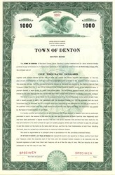Town of Denton Water Bond - North Carolina 1946