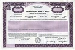 Township of Montgomery General Imporovement Bond- New Jersey 1990