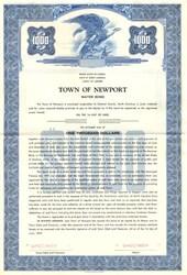 Town of Newport Water Bond - North Carolina 1957